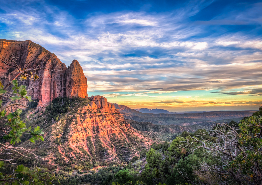 Kolob Canyon, Southern Utah at Sunset