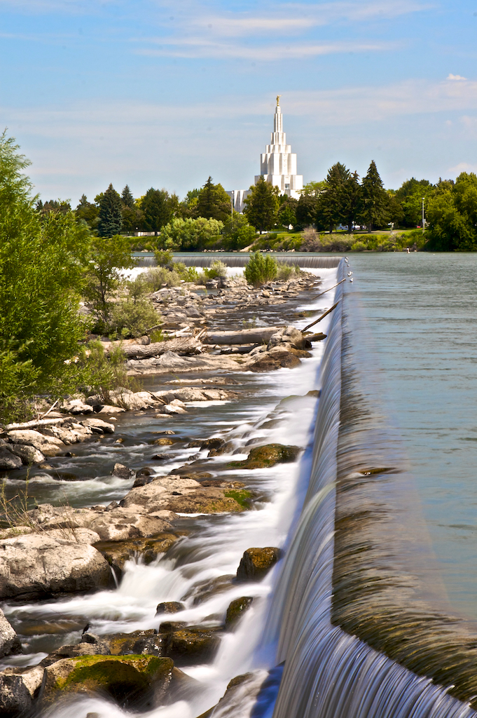 Temple in Idaho Falls
