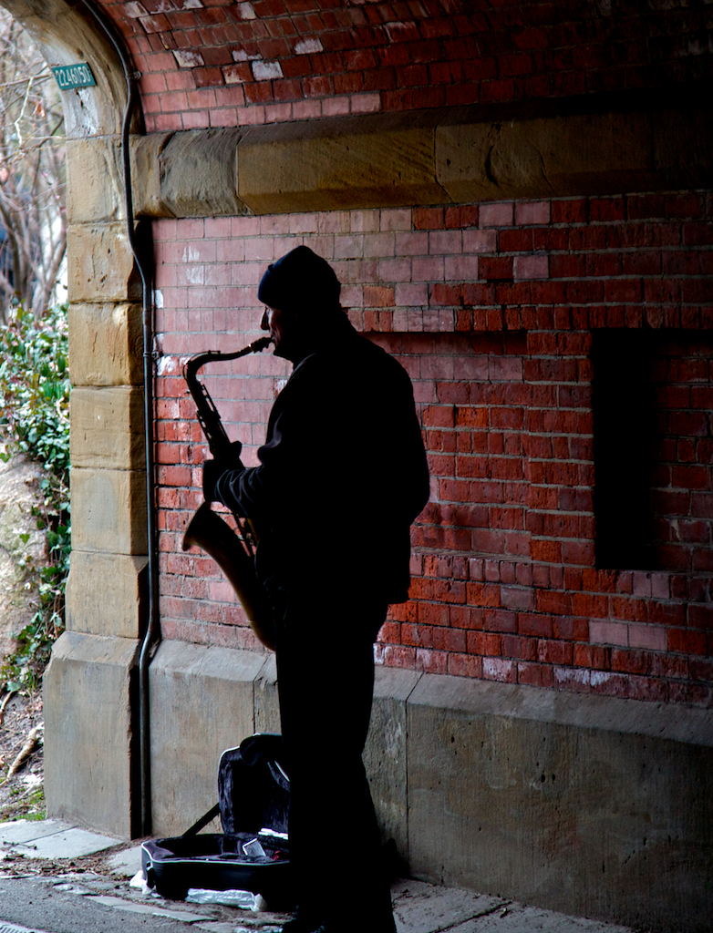 Central Park Sax in the Tunnel