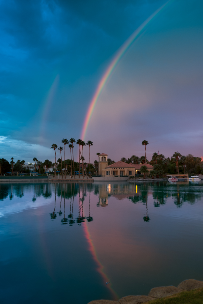 Rainbows at Desert Shores, 9-28-16